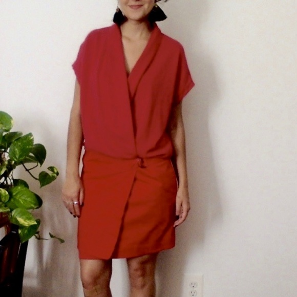 Lacoste Dresses & Skirts - Rare Vintage Red Lacoste Dress